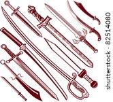 sword collection | Shutterstock .eps vector #82514080