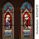 catholic stained glass window... | Shutterstock . vector #82516570