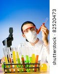 chemist in the lab... | Shutterstock . vector #82520473