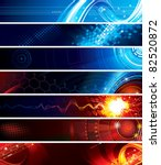 set of abstract technology web...   Shutterstock .eps vector #82520872