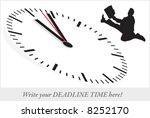 deadline time   office clock.... | Shutterstock .eps vector #8252170