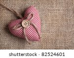 Heart With Button On On Brown...