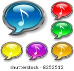 music note speak buttons | Shutterstock .eps vector #8252512