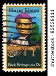 Small photo of USA - CIRCA 1978 : A stamp printed in the USA shows Harriet Tubman Portrait, Black Heritage, circa 1978