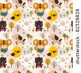 cartoon animal seamless pattern | Shutterstock .eps vector #82528828
