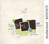 pretty scrap template   Shutterstock .eps vector #82537672