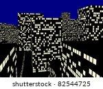 view of illuminated skyscrapers ... | Shutterstock . vector #82544725