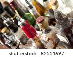 alcoholic beverages in bottles...   Shutterstock . vector #82551697