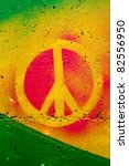 peace graffiti sign on the wall | Shutterstock . vector #82556950
