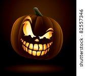 scary jack o lantern | Shutterstock .eps vector #82557346