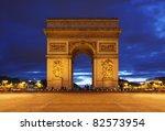 arc de triomphe in paris | Shutterstock . vector #82573954