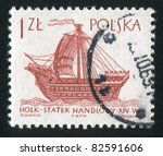 poland   circa 1963  stamp...   Shutterstock . vector #82591606