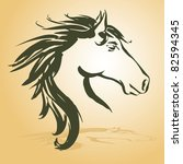 Stock vector horse head 82594345