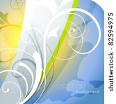 beautiful floral vector... | Shutterstock .eps vector #82594975