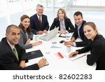 mixed group in business meeting | Shutterstock . vector #82602283