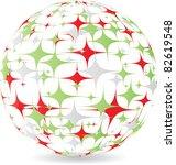 italian ball made of stars | Shutterstock . vector #82619548