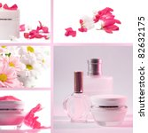 cosmetics set of photos in a... | Shutterstock . vector #82632175