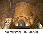 arches in hall of norman...   Shutterstock . vector #82638688