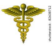 caduceus symbol on white... | Shutterstock . vector #82638712