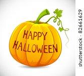 illustration of happy halloween ...   Shutterstock .eps vector #82661629