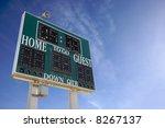 high school score board on a... | Shutterstock . vector #8267137