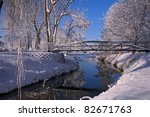 Winter Scene Of Winding Creek...