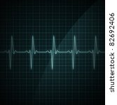 healthy heart beat on monitor... | Shutterstock . vector #82692406