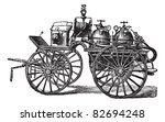 Horse Driven Fire Wagon ...