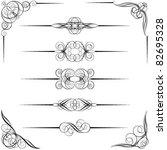 divider and corner designs   Shutterstock .eps vector #82695328