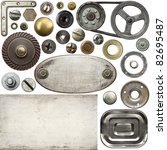screw heads  textures  frames... | Shutterstock . vector #82695487