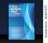 flyer or cover design | Shutterstock .eps vector #82697377