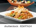 Seafood Pad Thai Dish Of Stir...