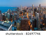 view  of chicago downtown at... | Shutterstock . vector #82697746