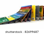 credit cards in a row falling   ...   Shutterstock . vector #82699687