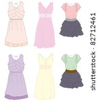 dress fashion women illustration | Shutterstock .eps vector #82712461