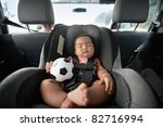 Baby Sleeping In Car Seat And...