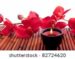spa candle and colorful flower... | Shutterstock . vector #82724620