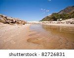 Rocky estuary - stock photo