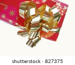 red christmas present with... | Shutterstock . vector #827375