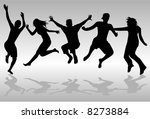 jumping people | Shutterstock .eps vector #8273884