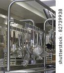 aluminum kitchenware hanging in ...   Shutterstock . vector #82739938