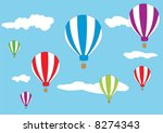 hot air balloons in the sky | Shutterstock .eps vector #8274343