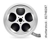 realistic reel of film....   Shutterstock .eps vector #82748287