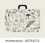 summer holiday  suitcase for... | Shutterstock .eps vector #82753171
