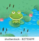 happy smiling frog    vector... | Shutterstock .eps vector #82753699