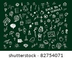 sketches on blackboard  concept ... | Shutterstock .eps vector #82754071