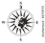 compass with a globe on the... | Shutterstock . vector #8275975