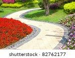 Beautiful Summer Garden With A...