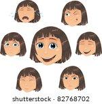 vector girl  character... | Shutterstock .eps vector #82768702