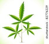 illustration of marijuana leaf on abstract background - stock vector